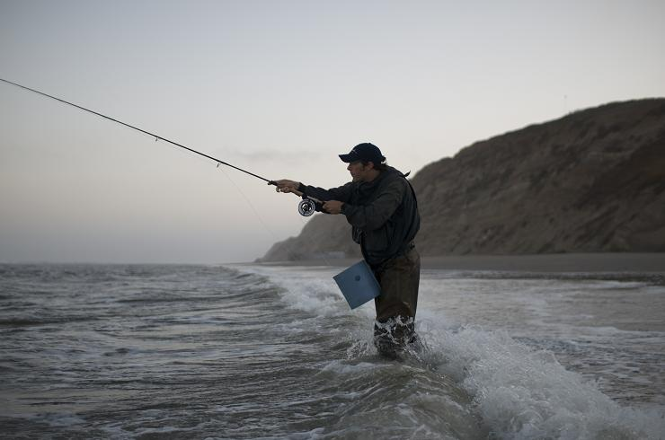 West coast striper fishing beulah fly rods for Surf fishing for stripers